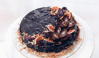 Festlig mælkesnitte chokolade kage