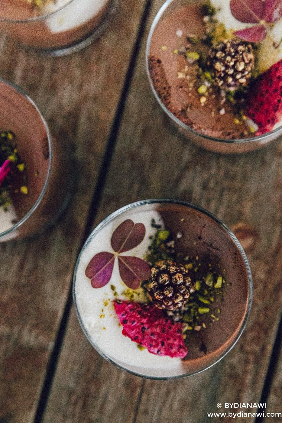 sund dessert, frisk sommerdessert, yoghurtmousse, slankekost
