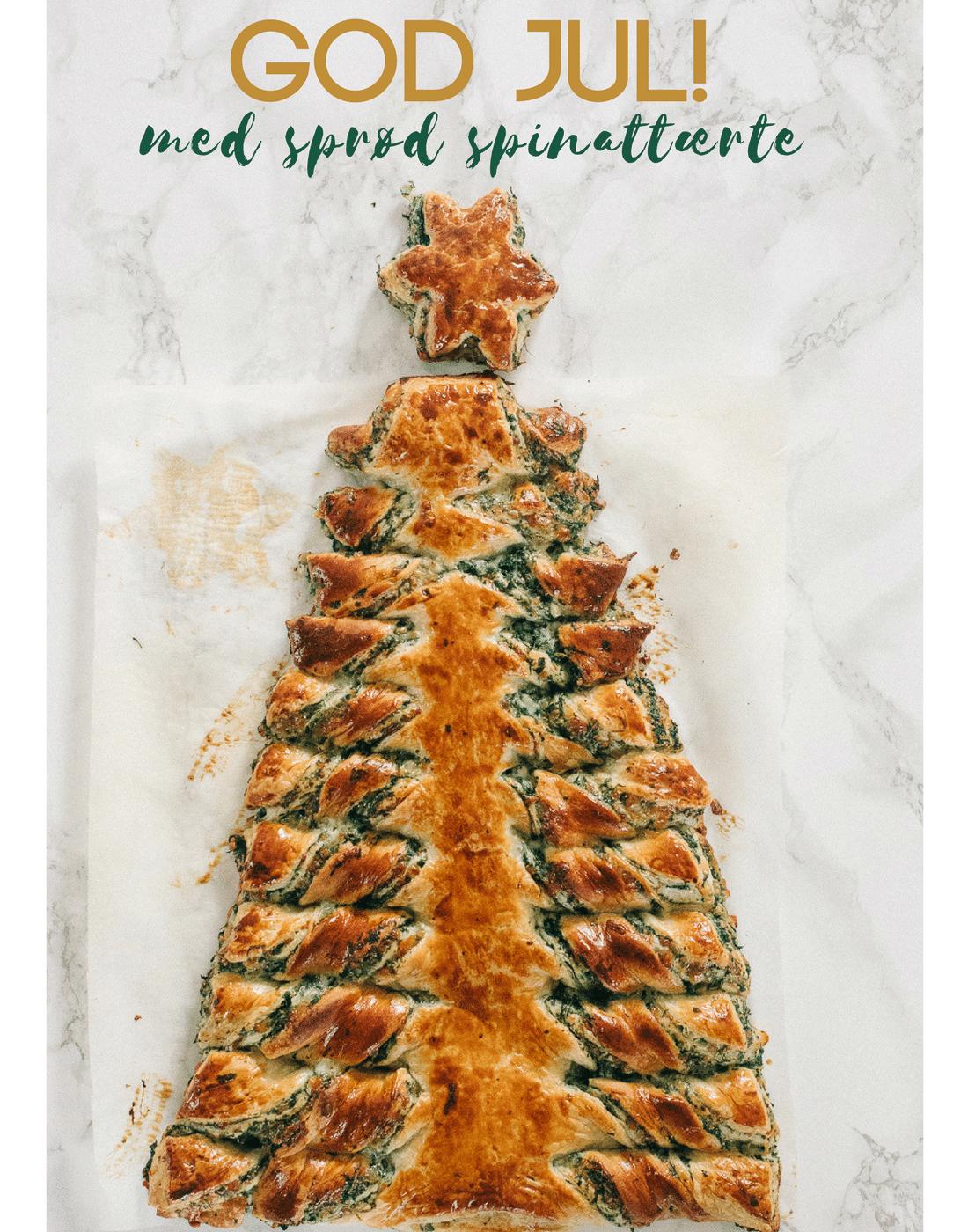nem spinattærte, juleopskrifter, juletræ, jul