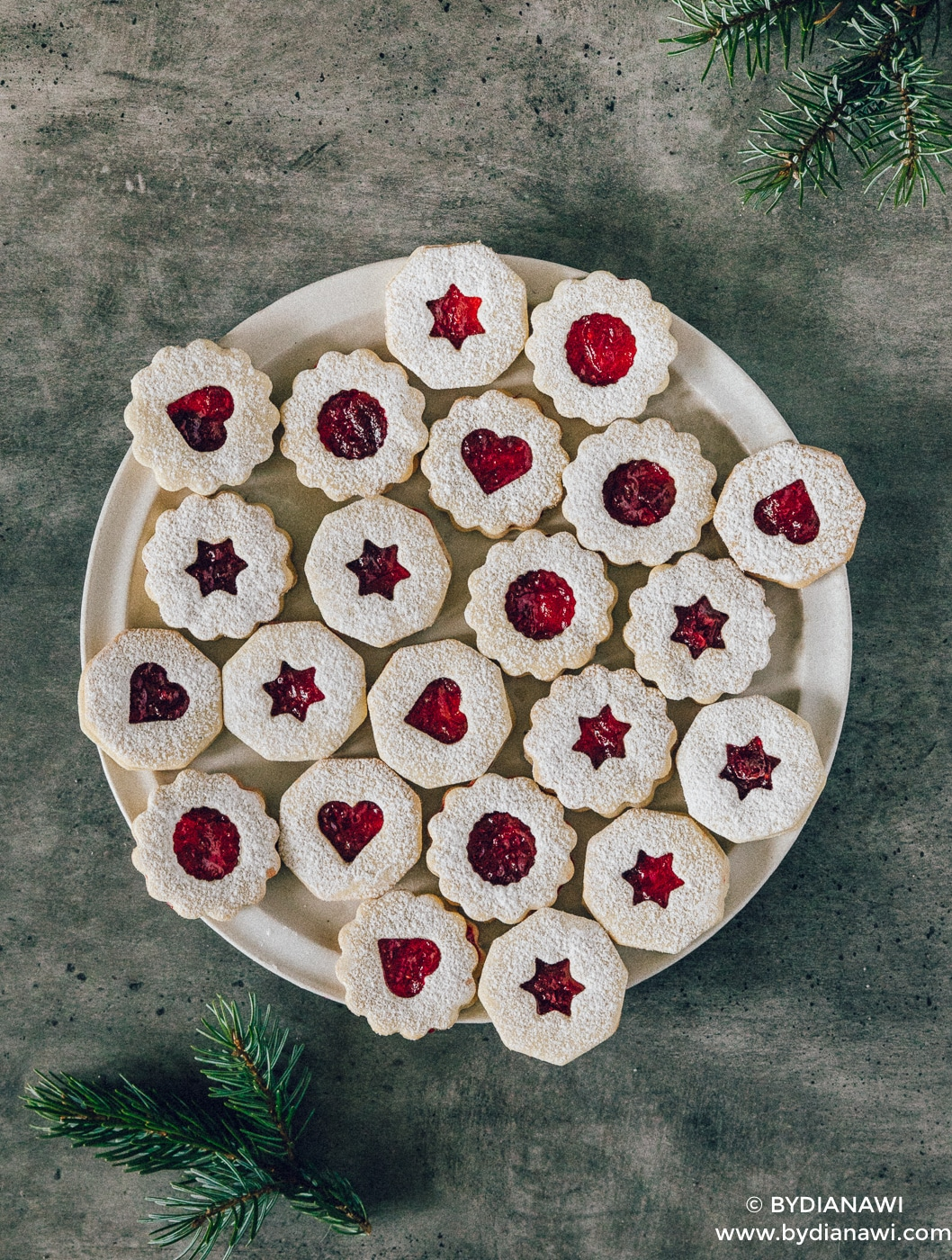 julesmåkager, hjemmelavet tranebær marmelade, småkagedej nem