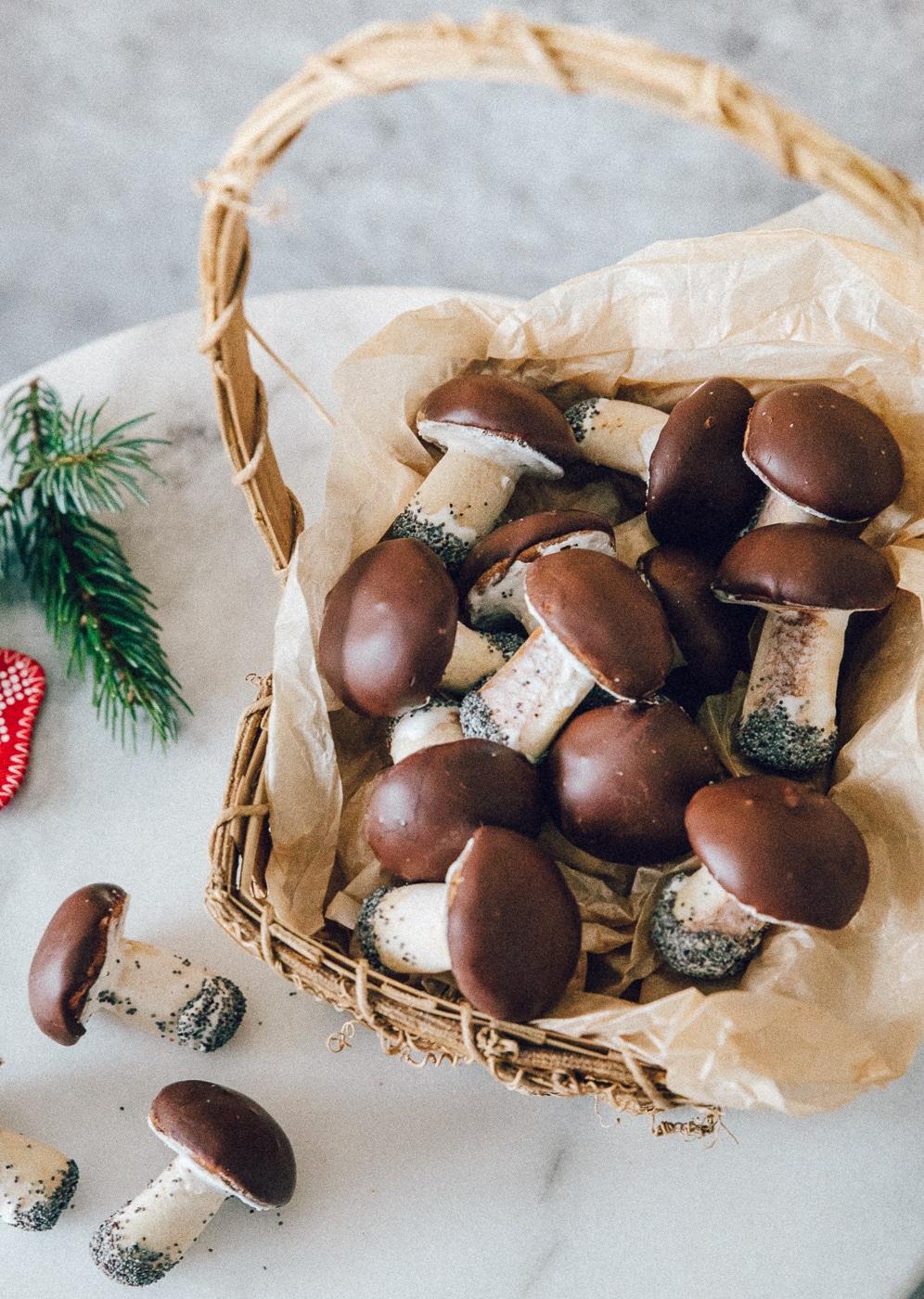svampe småkager, champignon cookies, hyggeprojekt, hjemmebag