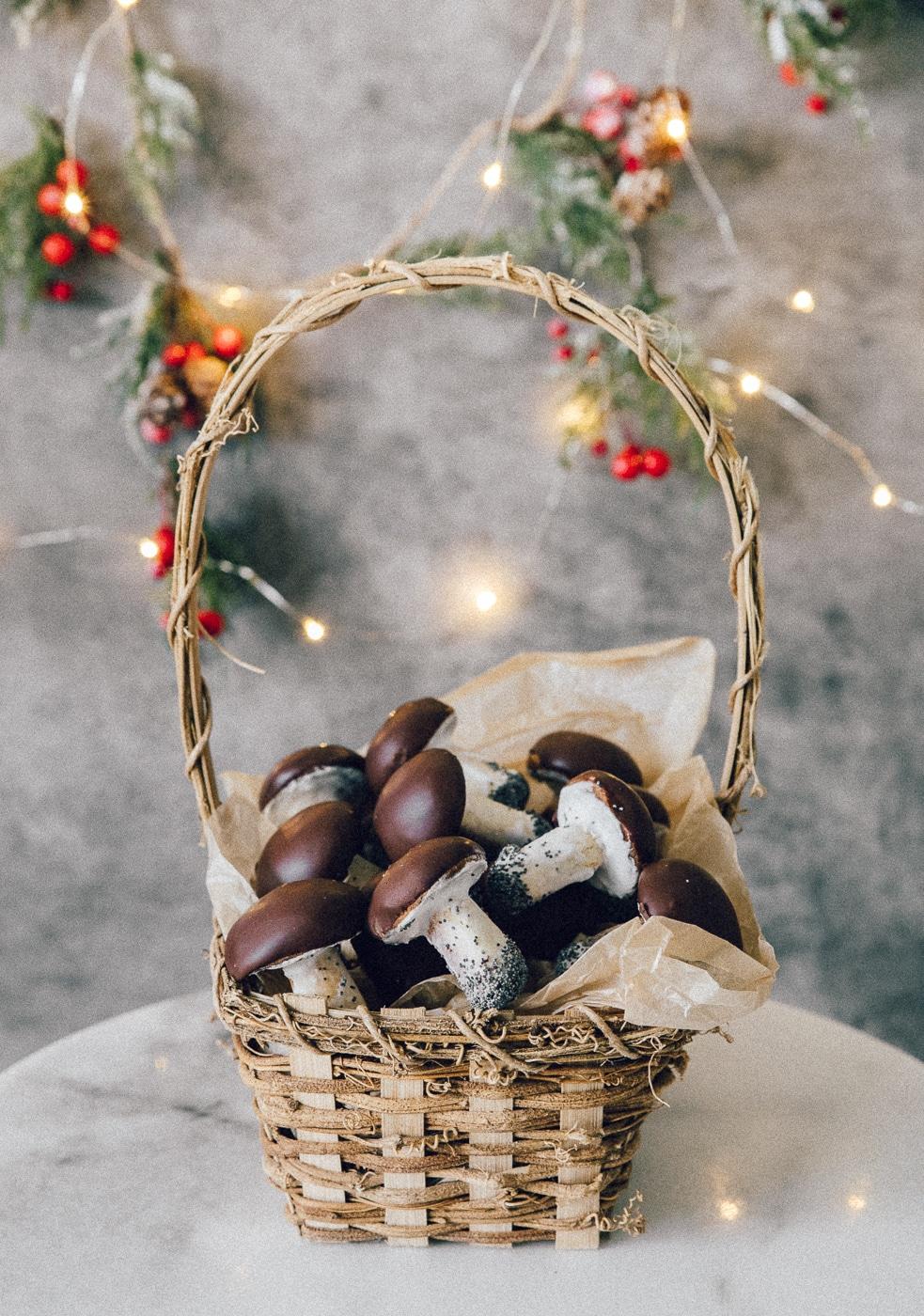 svampe småkager, champignon cookies, hjemmebag, hyggeprojekt