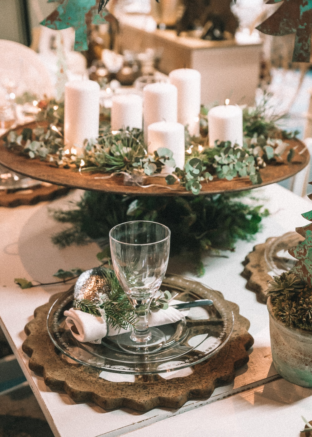 juleinspiration, loppemarked, juleborddækning