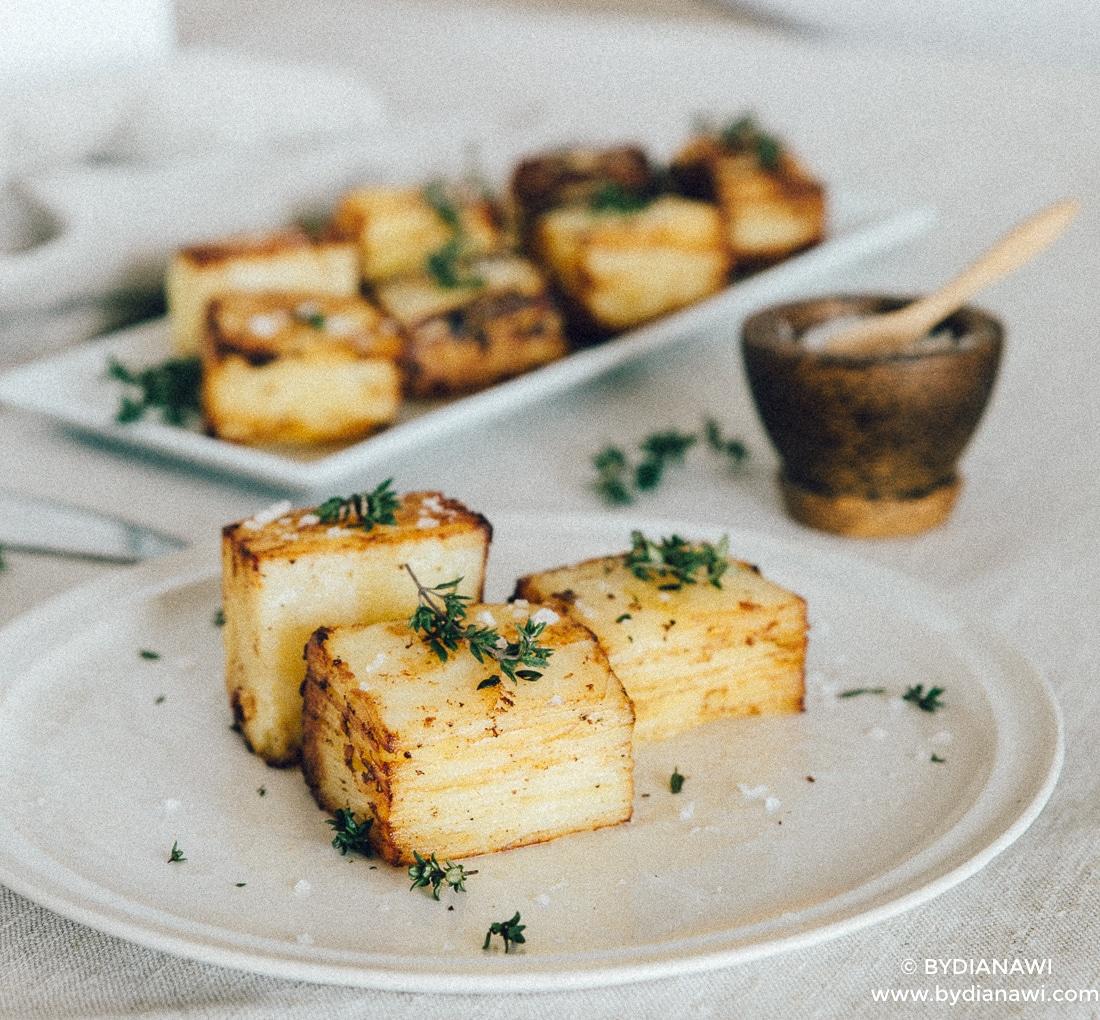 kartofler, nytårsaften hovedret, opskrift pommes anna, grillmad