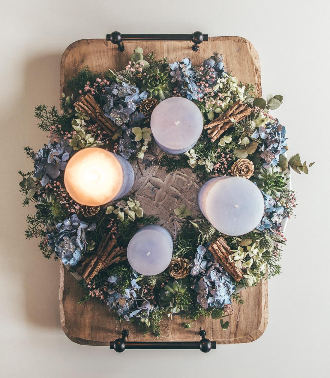 julepynt, inspiration adventskrans, jul