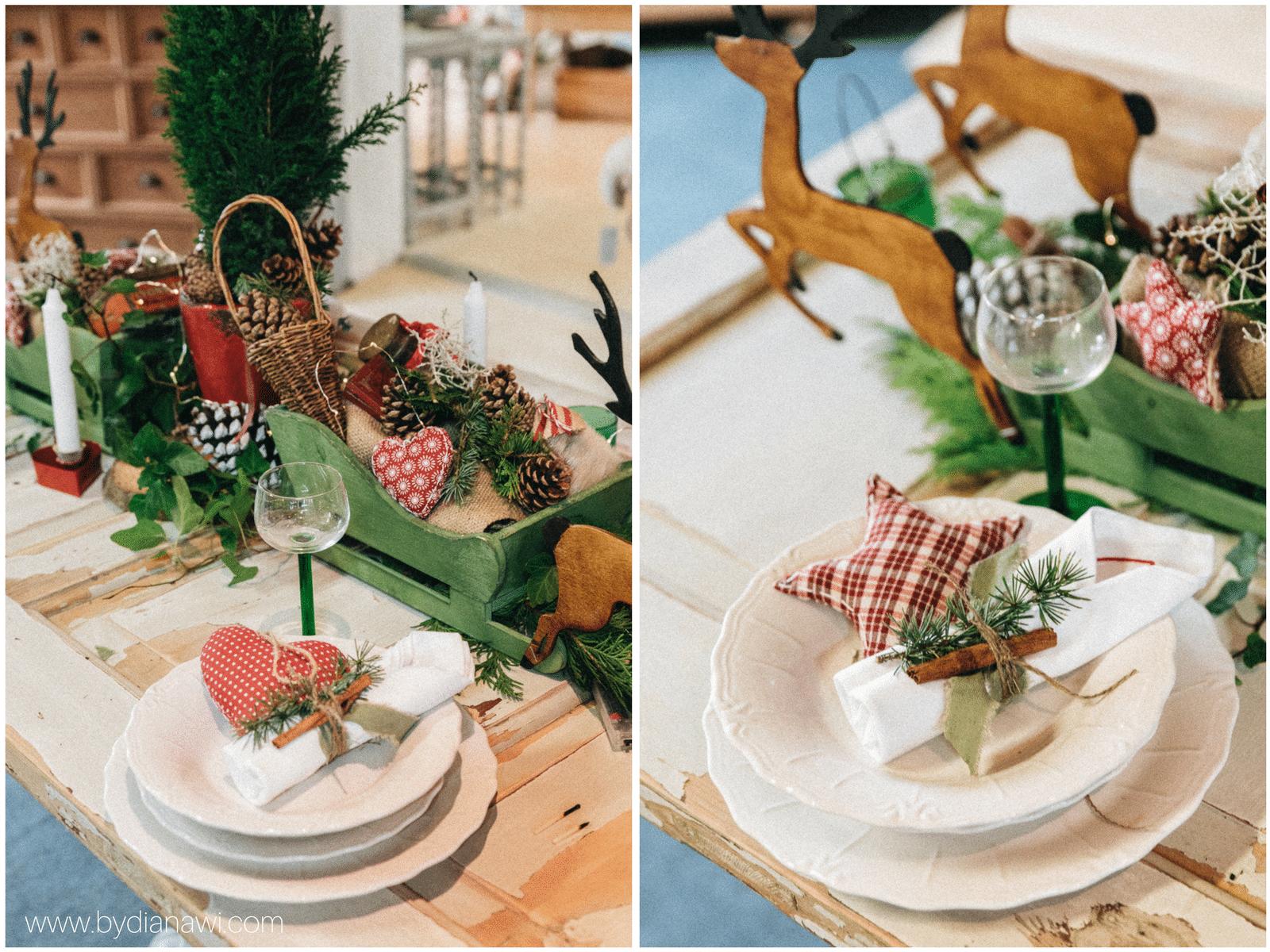 juleinspiration, loppemarked, juleborddækning, jul