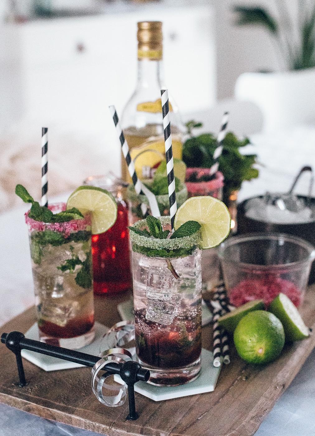 cocktail, mojito, rabarber mojito