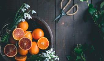 Blodappelsin curd med ingefær