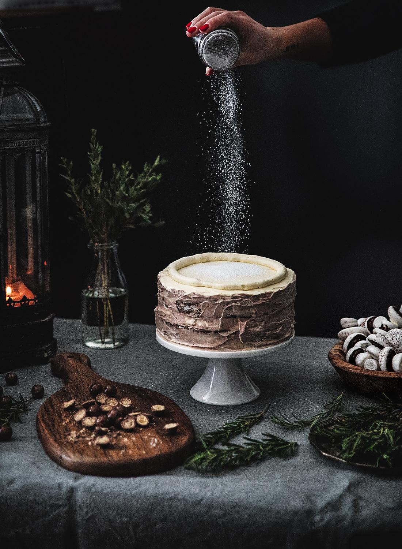 squashkage, kage til fest, marengssvampe