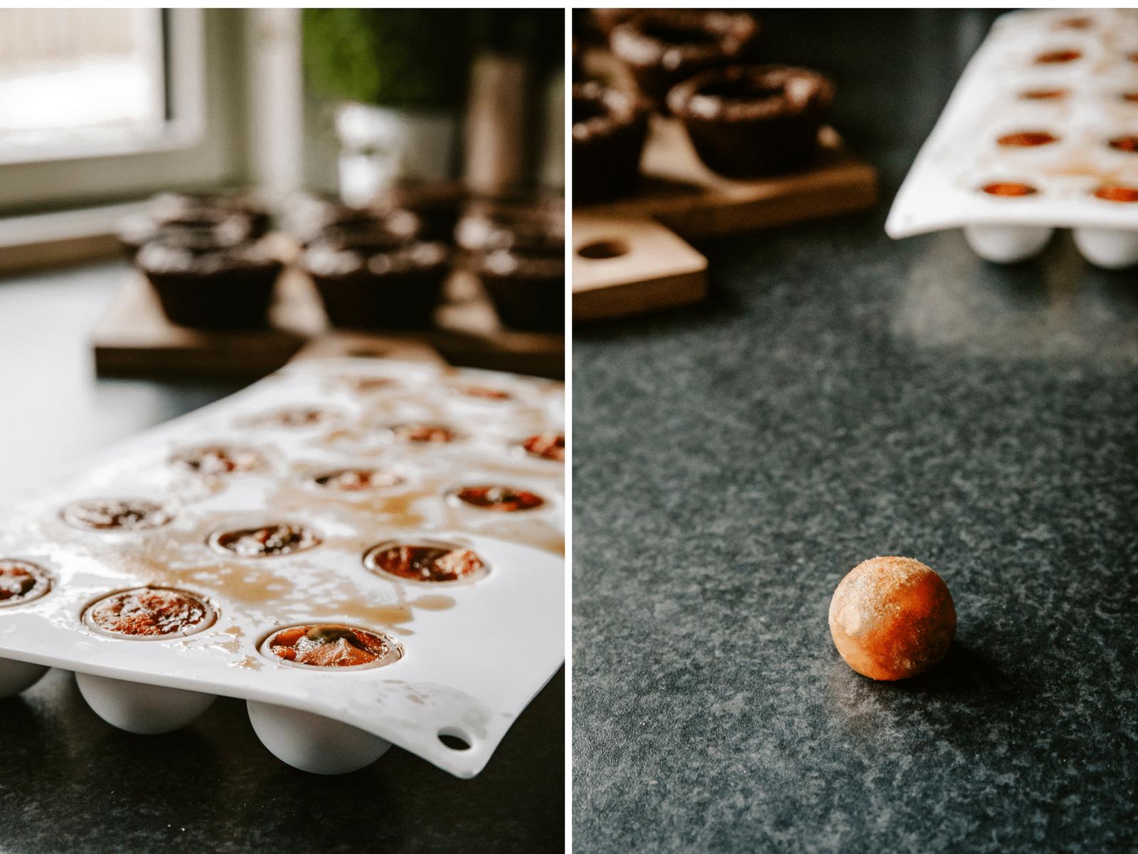 brownies, brownie muffins, jordbærkompot, italiensk marengs