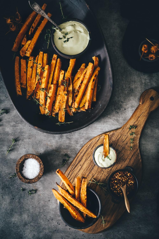 søde kartofler opskrift, sprøde søde kartoffel fritter i ovn, sunde fritter