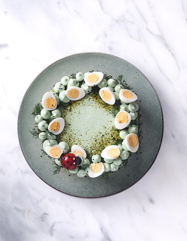 fiskelagkage, tunmousse, tunmoussekage, påskemad, påskefrokost