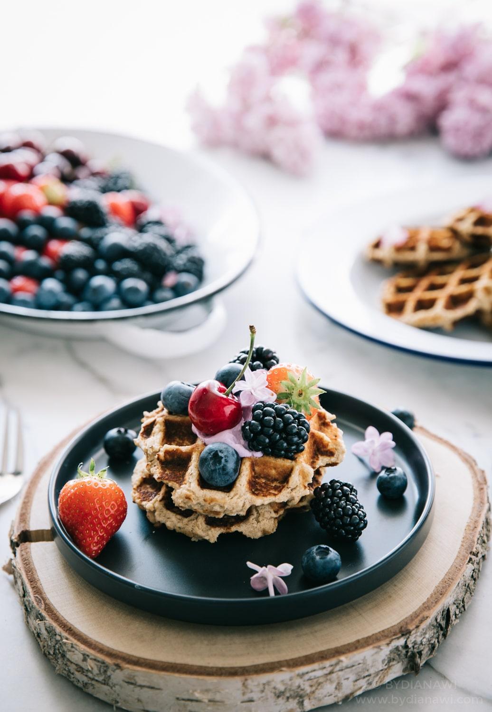 sunde vafler, butterbeans, sund dessert, 1200 kcal, slankeopskrifter